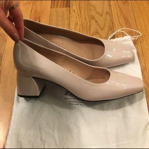 Zara brand new never work nude/pinkish heels